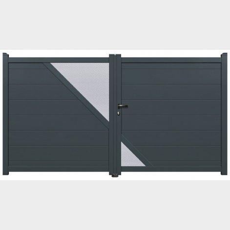 portail aluminium battant adoria batiman