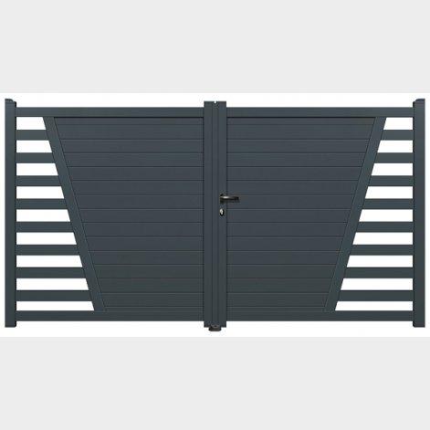 portail aluminium battant beca batiman