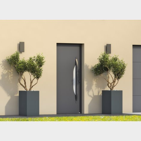 porte d'entrée AQUATA en aluminium de style contemporain BATIMAN