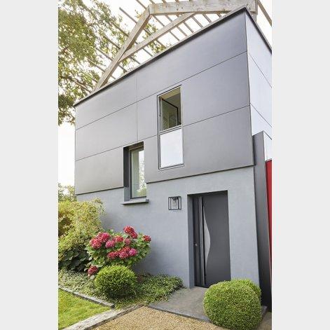 porte d'entrée en aluminium de style contemporain Aquata