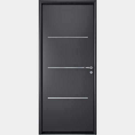 porte entree aluminium contemporaine batiman Lys