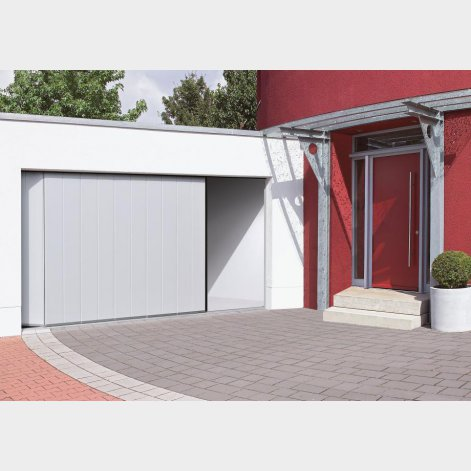 Porte de garage sectionnelle a ouverture laterale for Porte garage ouverture laterale