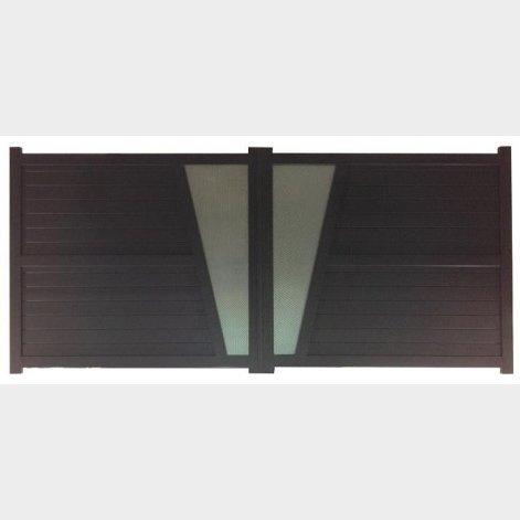 portail aluminium contemporain castelo batiman