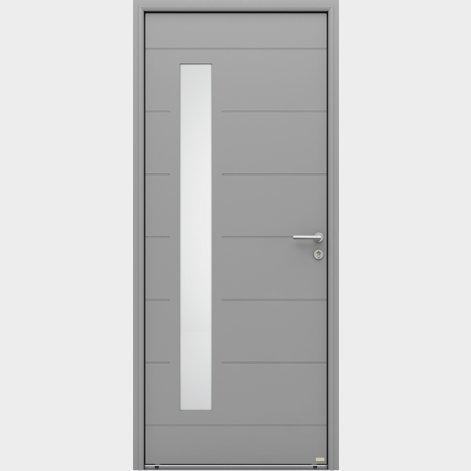 porte entrée aluminium contemporaine sabis batiman