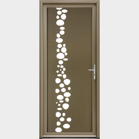porte entree aluminium contemporaine sequana batiman