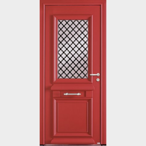 porte entree aluminium traditionnelle authie batiman
