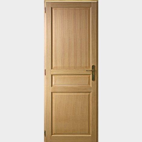 porte traditionnelle chene 3 panneaux droits