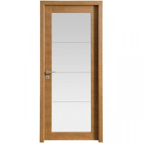 porte interieur contemporaine Jarvis batiman brun cuir
