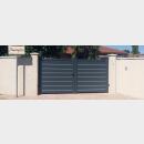 portail aluminium contemporain batiman ELVAS