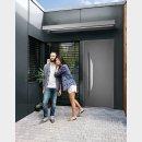 porte d'entrée en aluminium de style contemporain