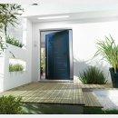 porte entree aluminium contemporaine pleine erco batiman