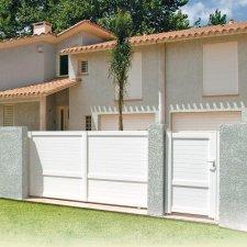 portail et portillon aluminium contemporain ambiance