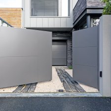 portail battant aluminium FUSETA batiman