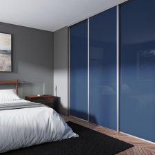 facade de placard coulissante bleu nuit BATIMAN