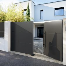 portail aluminium battant Klavel BATIMAN