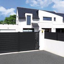 portail battant aluminium contemporain Vibo
