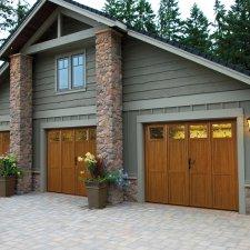 porte de garage en bois batiman