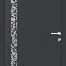 porte entree aluminium contemporaine albana batiman