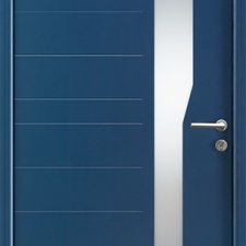 porte entree aluminium contemporaine axona batiman