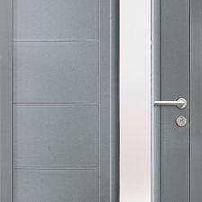 porte entree aluminium contemporaine douffine batiman
