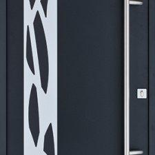 porte entree aluminium contemporaine isara
