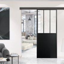 porte intérieur coulissante style atelier DELAP BATIMAN