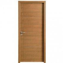 porte interieure contemporaine pline Jersey batiman brun cuir