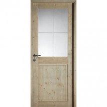 porte interieure traditionnelle Molene BATIMAN sapin gris cendre
