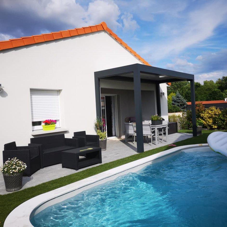 Pergola piscine Multibois La Roche Blanche Brioude Auvergne