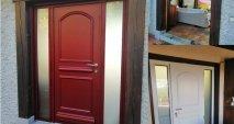 Porte d'entrée rouge Multibois La Roche Blanche Brioude Auvergne