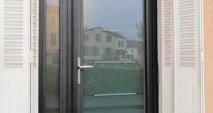 Porte d'entrée vitrée avec fixe Multibois La Roche Blanche Brioude Auvergne